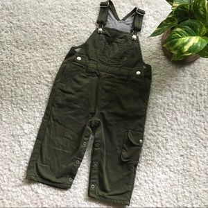 Baby Gap toddler army green cargo pants overalls